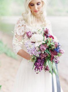 Purple bouquet // Organic & Romantic Lavender Wedding Ideas via Church Wedding Flowers, Purple Wedding Bouquets, Flower Bouquet Wedding, Floral Wedding, Wedding Colors, Flower Bouquets, Bridal Bouquets, Purple Bouquets, Lilac Wedding