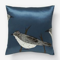 West Elm offers modern furniture and home decor featuring inspiring designs and colors. Create a stylish space with home accessories from West Elm. Bird Pillow, 50 Shades Of Grey, Persian Rug, West Elm, Blue Bird, Modern Furniture, Home Accessories, Pillow Covers, Cushions