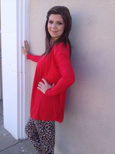 Long sleeve Red Piko Top – D. Bradley & Company, Inc $29.99 www.shopdbradley.com