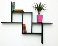 Wand plank-planken-plank-muur planken-moderne door WoodmadeCreation