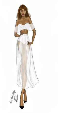 Fashion Illustration of Fashion Design Label- Alice McCall- for Mercedes Benz Fashion Week- Australia 2015. #fashionweek #fashionsketch #fashionillustration  For the latest Fast Track Fashion Design Courses- visit: http://www.lamodecollege.com