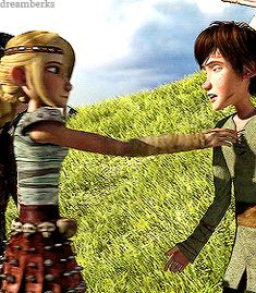 He closes his eyes. I though he was complete unprepared for that kiss. Hiccup knows what is going on.