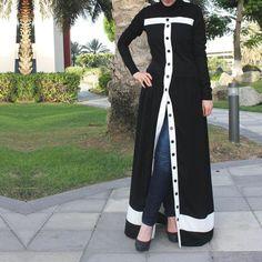 Pearl Abaya / White Abaya / Plus Size Abaya / Abaya with Beads Abaya Fashion, Muslim Fashion, Modest Fashion, Fashion Dresses, Mode Kimono, Mode Abaya, Outfit Look, Dress Plus Size, Abaya Designs
