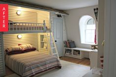 Before & After: Drab Student Space to a Cottage-Inspired Boy's Bunk
