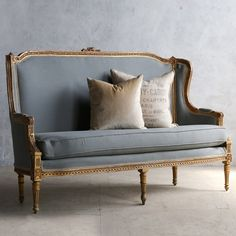 Eloquence One of a Kind Vintage Settee Louis XVI Red Gesso