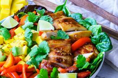 Eat Clean with this Glorious Sweet and Sour Chicken Mango + Avocado Salad!