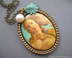Aphrodite Necklace - Cameo Necklace - Birth of Venus Necklace - Aphrodite Jewelry - Greek Mythology Jewelry - Goddess Jewelry - Goddess Gift by SilverTrumpetJewelry on Etsy https://www.etsy.com/listing/229219523/aphrodite-necklace-cameo-necklace-birth