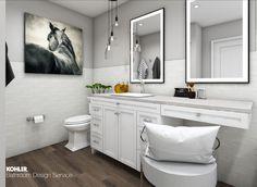 Kohler Bathroom, Pool Bathroom, Budget Bathroom, Small Bathroom, Vanity Design, Bath Design, Digital Showers, Master Bath Remodel, Classic Bathroom