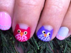 Hoo likes these #owl #nails? http://www.ivillage.com/best-nail-art-teen-and-tween-girls/6-a-527284#