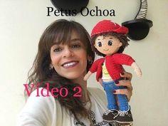 Como bordar ojos muñeco Mauricio amigurumi By Petus segunda parte - YouTube