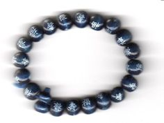 Armband, Armkette, Armschmuck, Armreif, Surferarmband, Asia-Holzperlen, blau