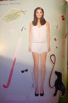 Kate Duchess Cambridge Royal Special Dress Up Paper Doll