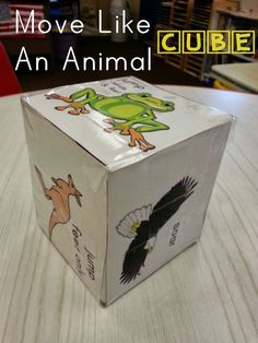 roll animal dice at the end of large group to transition to next activity- animal activities for kids: