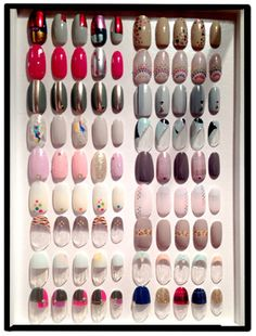 Nail art manicure designs by Kiho Wantanabe, one of the top manicurists in Japan.