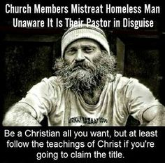 """"""" """" """" """" Church Members Mistreat Homeless Man in Church, Unaware It Is Their Pastor in Disguise. """"Pastor Jeremiah Steepek transformed himself into a homeless person and went to the member church. Homeless Man, Helping The Homeless, Hypocrite Christian, Troll, Practice What You Preach, Anti Religion, Atheism, The Life, Christianity"""