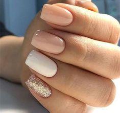96 Lovely Spring Square Nail Art Ideas – Future nail colors – - Beauty is Art Simple Bridal Nails, Bridal Nail Art, Simple Gel Nails, Bridal Nails Designs, Cute Simple Nails, Nagellack Design, Nagellack Trends, Cute Nails, Pretty Nails