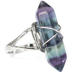 Tibetan Opal Crystal Point Ring -Opalite Healing Quartz Stone- White -Vintage Silver Jewellery- Raw-Boho Bohemian Hippy Style- Adjustable