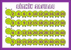 Ritmik sayma School Frame, Reading Worksheets, Kindergarten Reading, Activity Centers, Fractions, Kids House, Math Activities, Classroom, Education