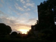 Sunset over Lucknam Park Hotel & Spa near Bath, Wiltshire