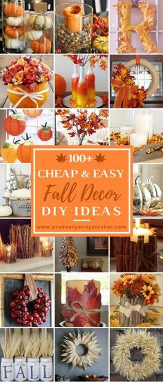 100 Cheap and Easy Fall Decor DIY Ideas 100 Cheap and Easy Fall Porch Decor Ideas - Prudent Penny Pincher Porche Halloween, Fall Halloween, Halloween Ideas, Fall Home Decor, Autumn Home, Fall Decor Outdoor, Outdoor Christmas, Autumn Crafts, Holiday Crafts