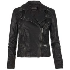 AllSaints Cargo Leather Biker Jacket (9.690 ARS) ❤ liked on Polyvore featuring outerwear, jackets, leather jacket, coats, coats & jackets, lined leather jacket, quilted jackets, asymmetrical zip jacket, rider leather jacket and leather moto jacket