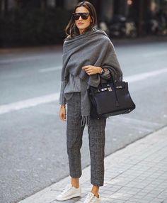 Style hiver 2017-2018 chic Gris Hermès Basket blanche