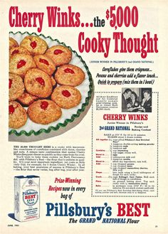 Vintage Baking Ad 1950s Pillsbury Flour, 2nd Grand National Baking Contest…