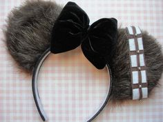 Disney Chewbacca Star Wars Mickey Ears by CraftyOliviaCuties