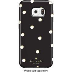 kate spade new york - Hybrid Hard Shell Case for Samsung Galaxy S6 edge Cell Phones - Scatter Pavilion Black/Cream - AlternateView1 Zoom