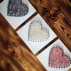 String Art Murals ~ Three hearts {I love you} String Art Wandbilder Drei Herzen I love you Sewing Tutorials, Sewing Patterns, Crafts For Kids, Arts And Crafts, Best Christmas Markets, Sweet Pic, Diy Wall Art, Wall Decor, String Art