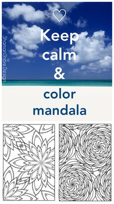 #ShShPrintables Mandala coloring pages for grown ups   Printable mandala coloring book for adults on Etsy   advanced coloring pages   keep calm quote