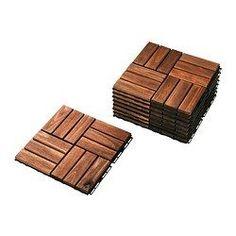 IKEA - RUNNEN, Płyta podłogowa, na zewnątrz, Płyty podłogowe to prosty sposób na odświeżenie tarasu lub balkonu.Płyty podłogowe można przyciąć, aby dokładnie dopasować je w narożnikach lub wokół filarów.Jeżeli chcesz wyczyścić podłogę pod płytkami, można je łatwo rozmontować i złożyć ponownie.Możesz łatwo zabezpieczyć swoją podłogę przed zniszczeniem, poprzez regularne lakierowanie, około raz w roku.