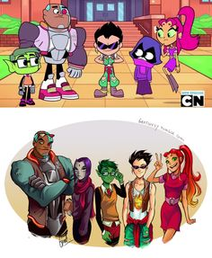 yeah... not completely accurate, Teen Titans go. nice redraw tho