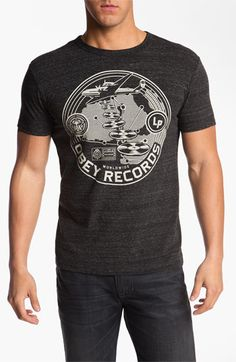377d34b5 Obey 'Hi-Fi Records' Graphic Crewneck T-Shirt available at #Nordstrom