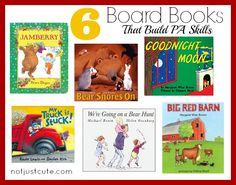 6 Awesome board books that build critical reading skills for the future.  (Phonological / Phonemic Awareness)  These are some of the BEST read-alouds around!