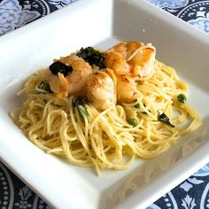 Last-Minute Lemon Spaghetti and Shrimp Best Shrimp Recipes, Shrimp Pasta Recipes, Easy Pasta Recipes, Seafood Recipes, Cooking Recipes, Healthy Recipes, Seafood Pasta, Pasta Recipies, Healthy Food