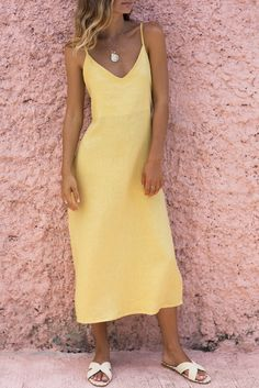 BERNADETTE DRESS - LEMON