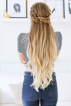 Fishtail Half Updo Hairstyle — Luxy Hair Blog - All about hair!