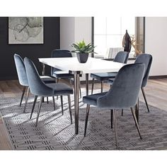 Riverbank+Contemporary+Dining+Room+Table+Set