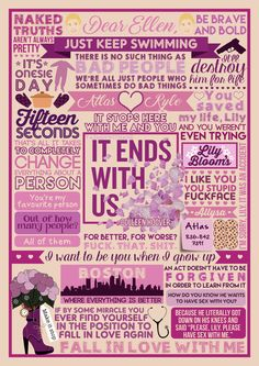"""Book Collage based on 'It Ends With Us' by Colleen Hoover I've been wanting to post this foreverrrrr but I've been wary of posting anything too spoiler-y since it's a new-ish release and Colleen has been very set on the """"Read it Blind"""" idea - which I..."""