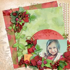 October Portrait, layout by GlitterQueen99