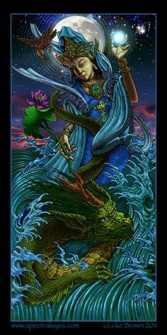 """""""Kwan Yin"""" by Luke Brown www.spectraleyes.com"""