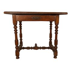 Pre-Owned French Library Table C. 1780 ($1,389) ❤ liked on Polyvore featuring home, furniture, brown, handmade furniture, walnut furniture, hand made furniture, hardware furniture and patina furniture