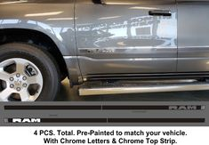 2019-Up Dodge Ram Painted Body Side Molding Trim. Quick and easy installation.  #ram #dodge #pickuptrucks #pickup #trucks #trucking #trucklife