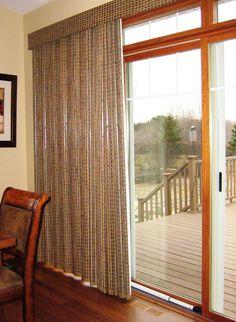 patio door window treatments   Provenance Woven Wood Drapery by Hunter Douglas