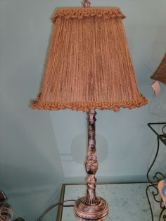Old ugly lamp, refabed!!! Using jute cord and a little chalk paint.