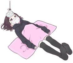 It is a cute sticker of kurumi-chan. Dibujos Anime Chibi, Cute Anime Chibi, Chica Anime Manga, Cute Anime Pics, Anime Neko, Kawaii Chan, Loli Kawaii, Kawaii Anime Girl, Anime Art Girl