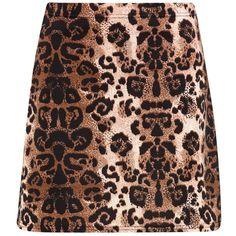 Boohoo Giselle Leopard Print A Line Mini Skirt (35 PLN) ❤ liked on Polyvore featuring skirts, mini skirts, short mini skirts, short maxi skirt, mini skirt, pleated mini skirt and a line maxi skirt