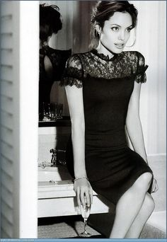 Want this little black dress.  (and to look like Angelina).