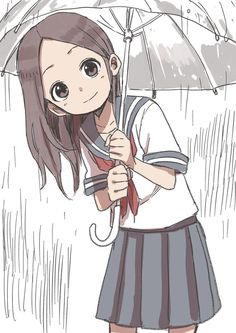 """karakai jouzu no takagi san"" Anime Chibi, Art Manga, Chica Anime Manga, Manga Girl, Anime Art Girl, Female Characters, Anime Characters, Kawaii Girl, Yamamoto"